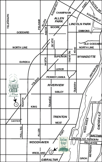 Prairie Creek map